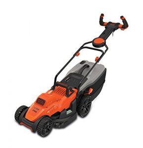BLACK+DECKER Rasenmäher BEMW461ES-QS, 34cm, orange/schwarz, 1.400 Watt