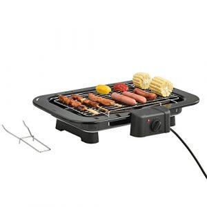 [casa.pro]® Elektrischer Tischgrill 2200W Platzsparender Elektrogrill 50 x 36,5 x 9 cm Balkon Terasse Outdoor