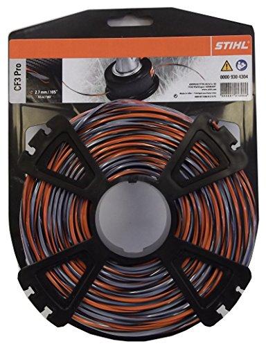 STIHL 00009304304 CF3 Pro Mähfäden kreuzförmig mit Carbonanteil, orange