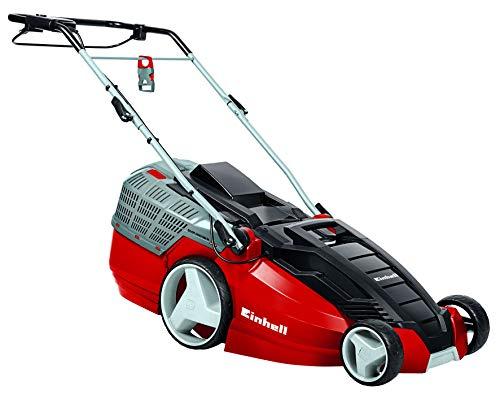 Einhell 3400182 HW M Elektrischer Rasenmäher 1800 W, 230 Volt, Rot, 63L Fassungsvermögen