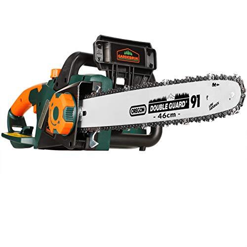 Gardebruk Elektrische Kettensäge   2800 Watt   46cm Oregon Schwert   Qualitätskette   Rückschlagbremse   autom. Kettenschmierung   Motorsäge