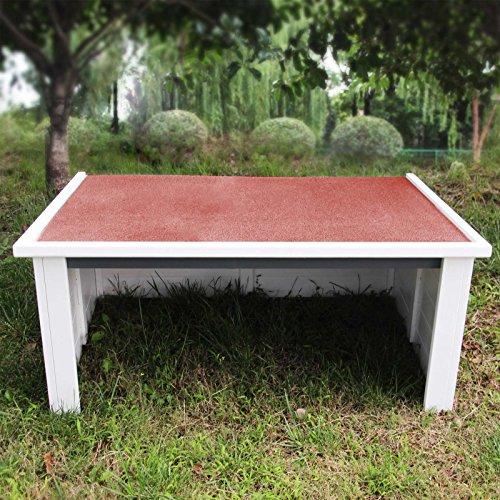Wiltec Garage Carport für Rasenmäherroboter mit klappbarem Flachdach und Dachfolie
