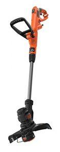 Black + Decker Elektro-Rasentrimmer-/kantenschneider (450W, 25 cm Schnittbreite, E-Drive, manuelle Fadenverlängerung auf Knopfdruck (EasyFeed), werkzeuglos umstellen von Trimmen auf Kantenschneiden)