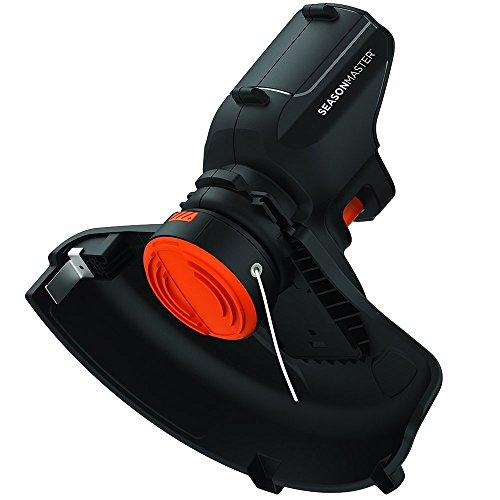 Black & Decker Rasentrimmer-Aufsatz (für SeasonMaster Multifunktions-Set, rüstet das Kombigerät um zum Akku-Rasentrimmer, 30 cm Schnittbereite und AFS Fadenverlängerung)