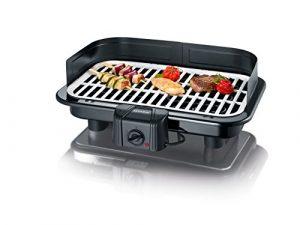 Severin PG 2794 Barbecue-Grill mit Keramikgussplatte, schwarz/weiß