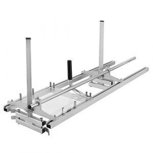 HUKOERChainsaw Mill 48 Zoll tragbare Kettensäge Mühle Aluminium Stahl Mig Schweißen Sägewerk 18″-48″ Planking Lumber Cutting Bar