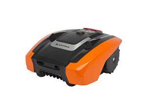 YardForce AMIRO 400i Mähroboter mit App-Steuerung – Selbstfahrender City-Rasenmäher Roboter mit Begrenzungsdraht – Akku Rasenroboter für bis zu 400m² Rasen & 25% Steigung 20 V, schwarz/orange
