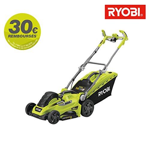 Ryobi elektrischer Rasenmäher, 1800W, Schnittlänge 40cm, RLM18E40H