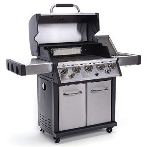 Qbo BBQ Gasgrill 5-flammig mit Edelstahl und Hancook 02089