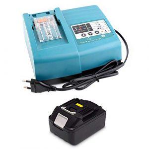 18V 3.0Ah Ersatz Akku mit Ladegerät für Makita Rasentrimmer DUR181Z Staubsauger DCL182Z DCL180Z Heckenschere DUH523Z Schlagschrauber DTW285Z Handkreissäge DHS680Z DSS501Z DSS501Y1J Batterie