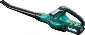 Bosch Akku Laubbläser ALB 36 LI (Akku, Ladegerät, Karton, Luftgeschwindigkeit: 180 – 260 km/h, 36 Volt System, 2,0 Ah)