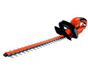 Black+Decker Elektro-Heckenschere (600W, 60 cm Schwertlänge, 25 mm Schnittstärke, angewinkelte Messergeometrie, für sehr große Hecken) GT6060