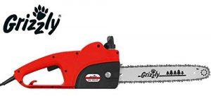 Grizzly Elektro Kettensäge EKS 1835-20, 1800 Watt, Schnittlänge 35,5cm, Ketten Schnellspannsystem, Sicherheits Stopp, Metallgetriebe