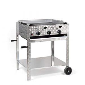 LAG Gasbräter 11 kW fahrbar mit Stahlpfanne 3-flammig Gasgrill Grill Gastrobräter Profigrill Verein