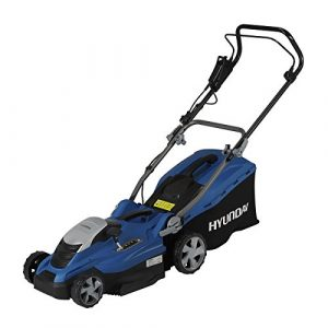 HYUNDAI Elektro-Rasenmäher LM3601E (Mulchfunktion, 1600W, Schnittbreite 36 cm, 45L Fangkorb, 5-fache Höhenverstellung 20-70 mm, Elektro-Mäher)