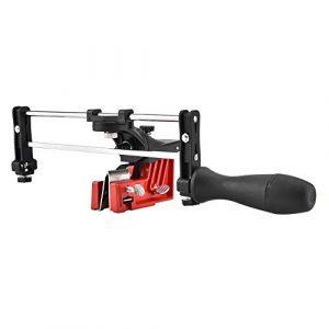 Riuty Kettenschärfer, manuelle Kettenschärfer-Montagekette zum Schärfen des Kettensägenführungswerkzeugs