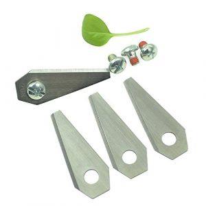 ECENCE 9 Ersatz-Messer Qualitäts-Klingen SCHARF 2-seitig wendbar für Bosch Indego Mähroboter + Schrauben 44040309
