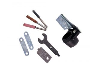 Dremel 1453 Kettensägen Schärfgerät, Zubehör Set fur Multifunktionswerkzeug zum Kettenschärfen mit 3 Schleifsteinen