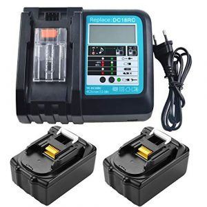 3A LCD Ladegerät mit 2 Stück BL1830 Akku 18V 3.0Ah Ersatz für Makita Akku-Heckenschere DUH523Z DUH651Z DUH551Z DUH523RF DUH523Z DUH502Z